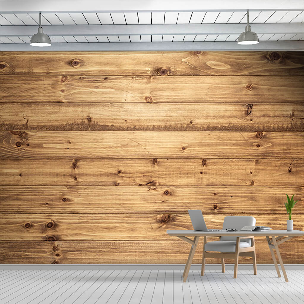 Pine tree horizontal cut wood flooring board wall mural