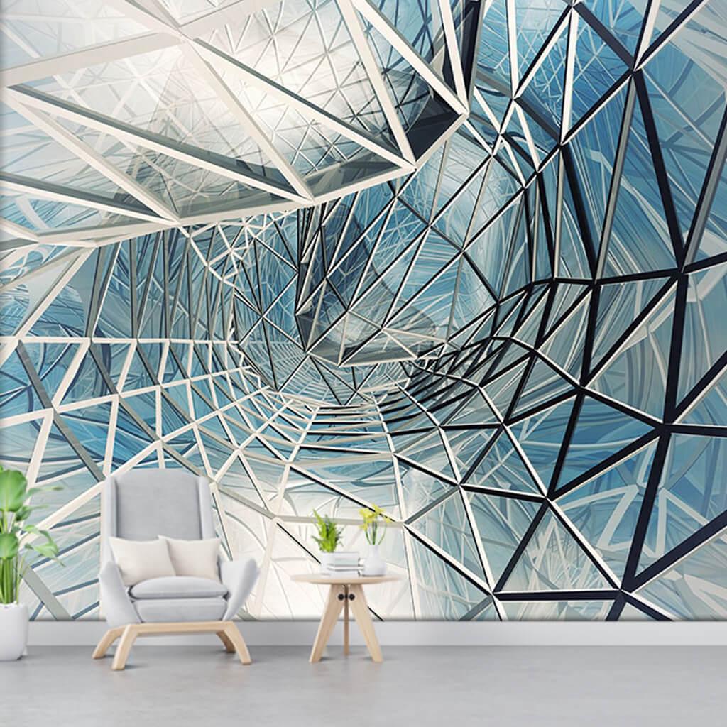 Beyaz uzay çatı gökyüzü ve tavan futuristik duvar kağıdı