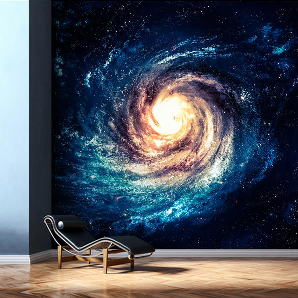 Galaxy spiral Big Bang space scalable custom wall mural