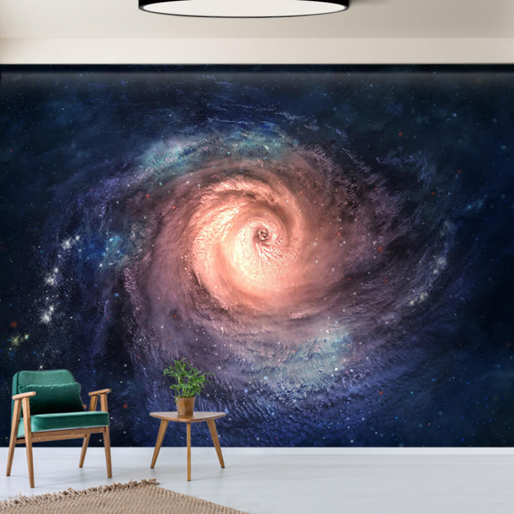Galaxy spiral space storm custom wallpaper wall mural