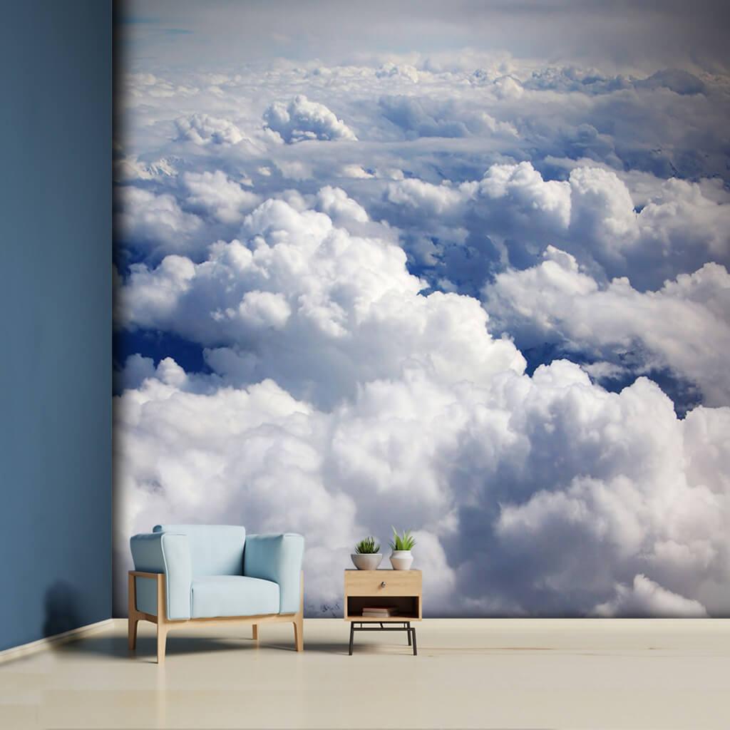 Gökyüzünden beyaz fırtına bulutları duvar kağıdı