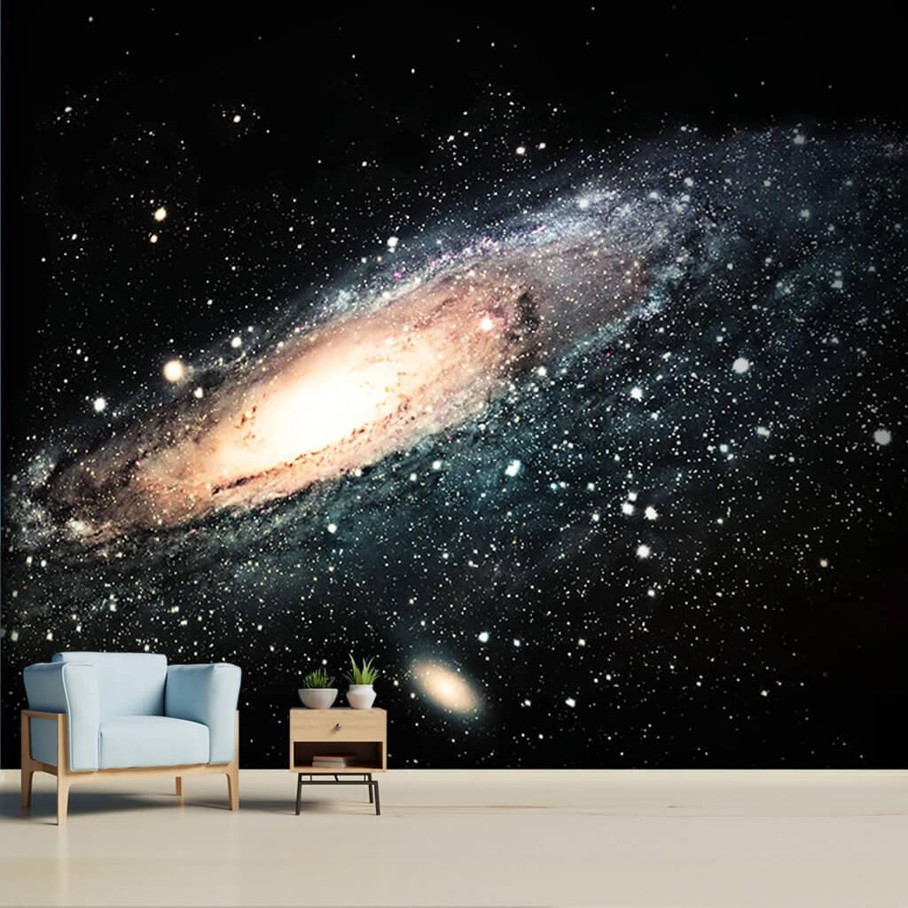 Galaksi uzay sarmalı yıldızlar ve büyük patlama duvar kağıdı