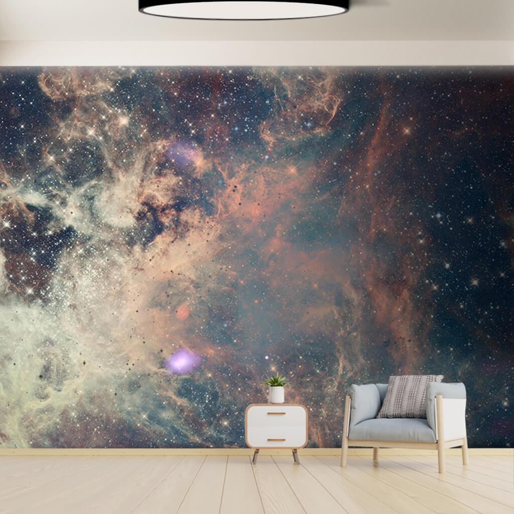 Andromeda uzay ve yıldızlar galaksiler duvar kağıdı