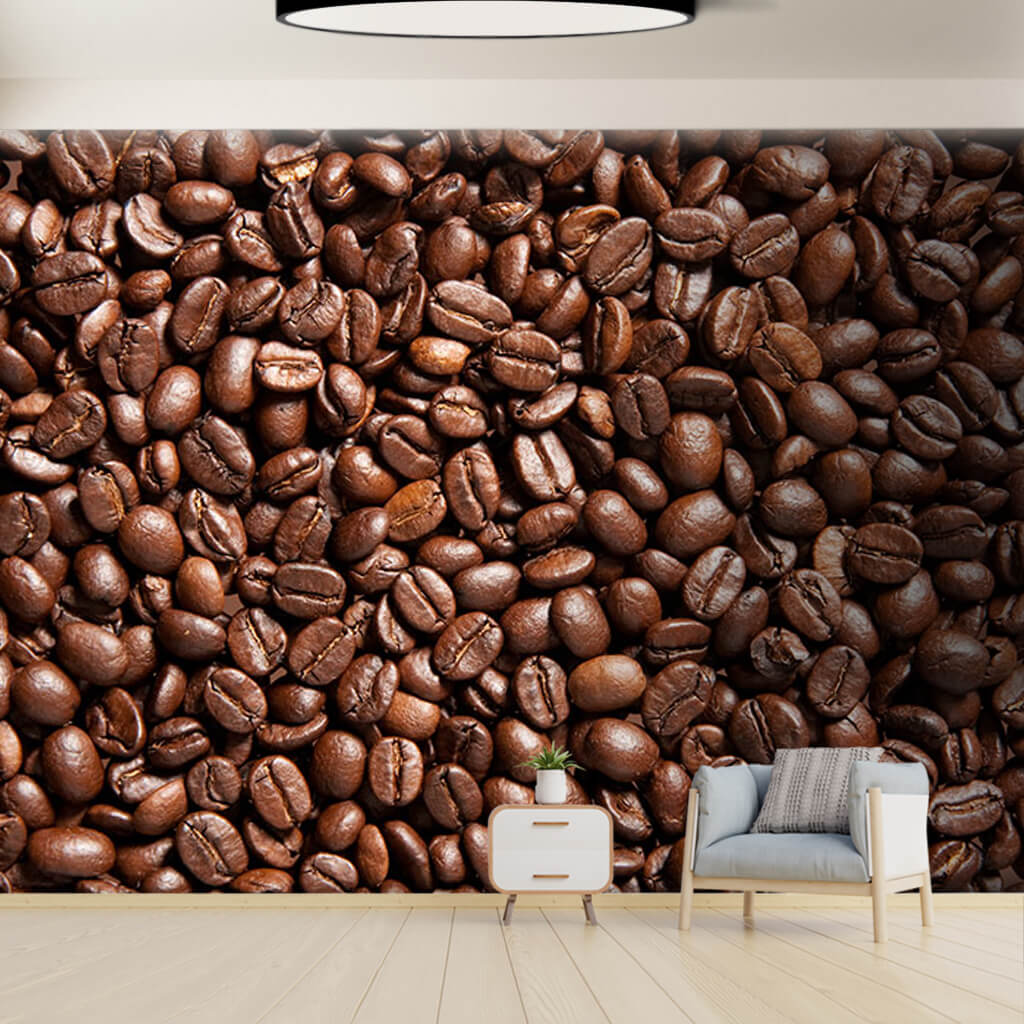 Brazil coffee bean 3D decorative scalable custom wall mural