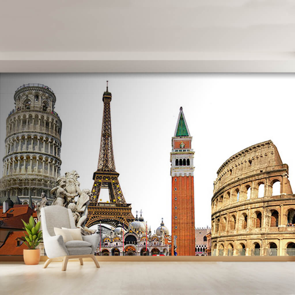 Avrupa şehir simgeleri anıtsal binalar turizm duvar kağıdı