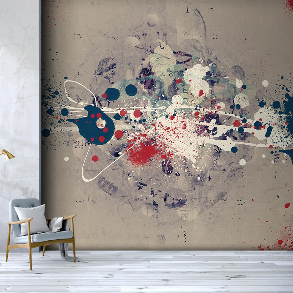 Blobs on canvas abstract modern art illustration wall mural