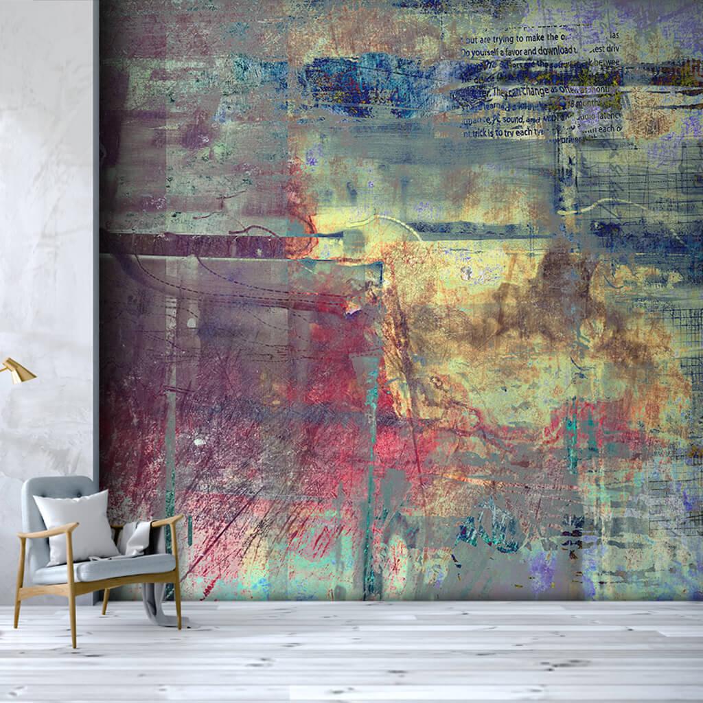 Çok renkli dinamik spatula boyama grunge duvar kağıdı