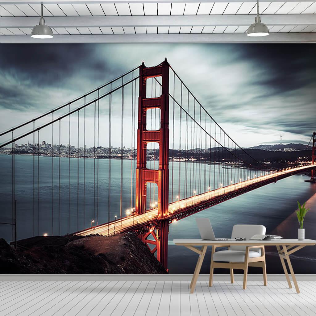 Çelik asma Golden Gate Köprüsü San Francisco duvar kağıdı