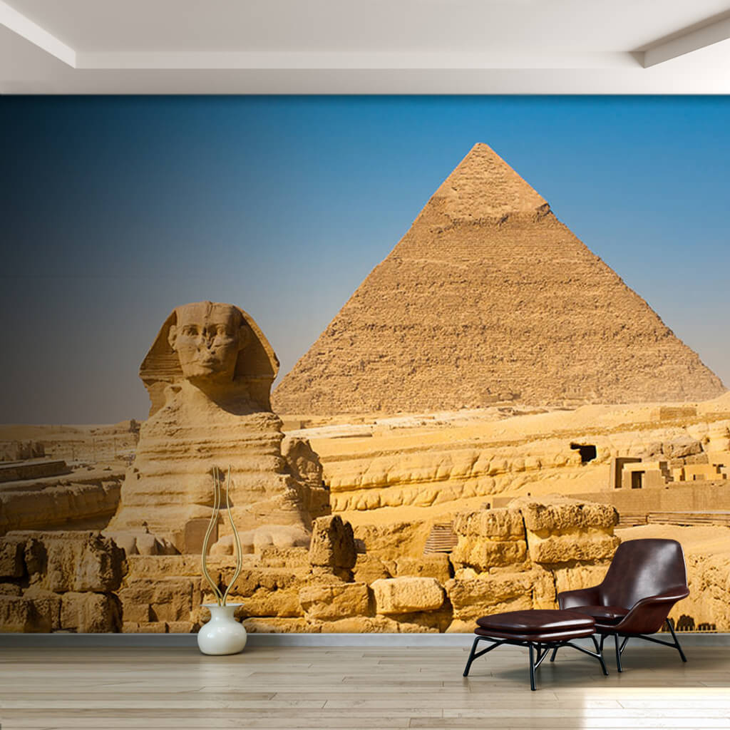Ancient Egyptian Pyramid Sphinx Ruins Cairo wall mural