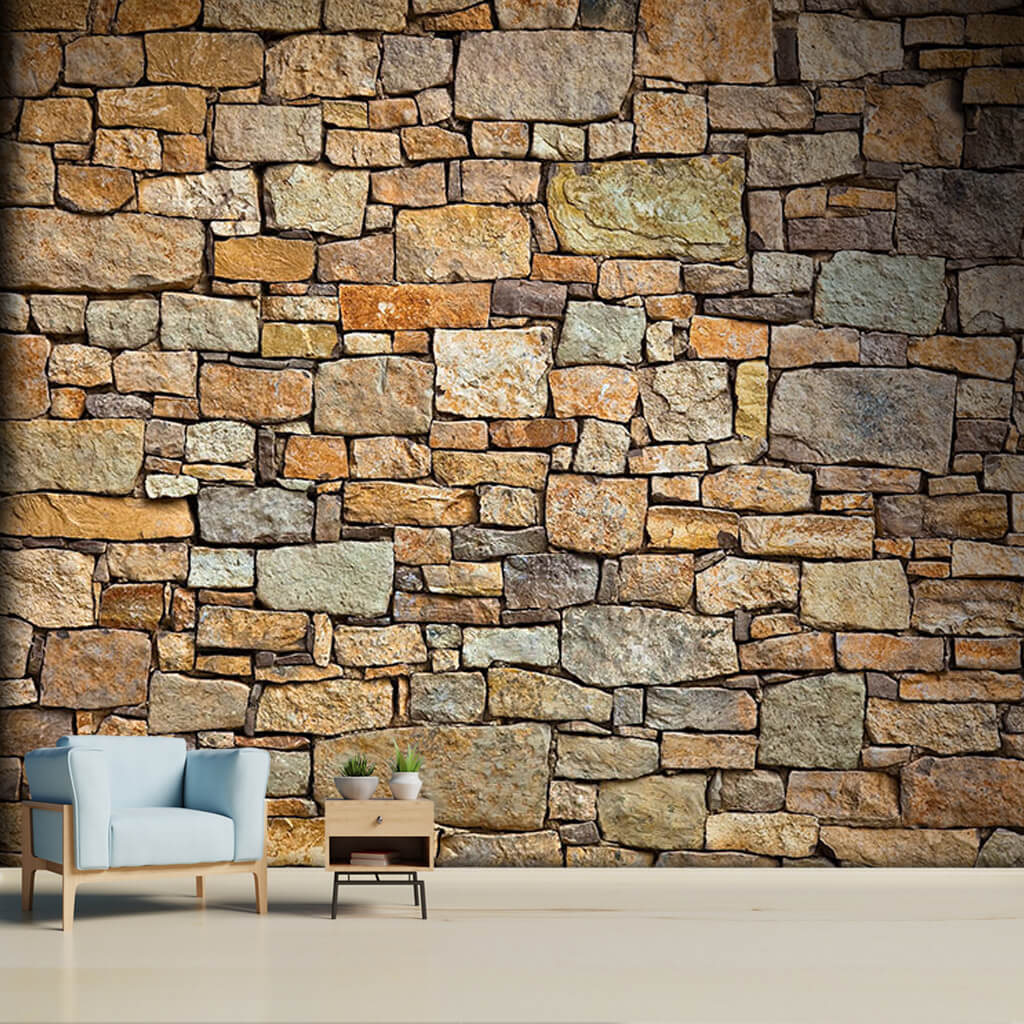 Knitted wall cross section 3d stone custom wall mural