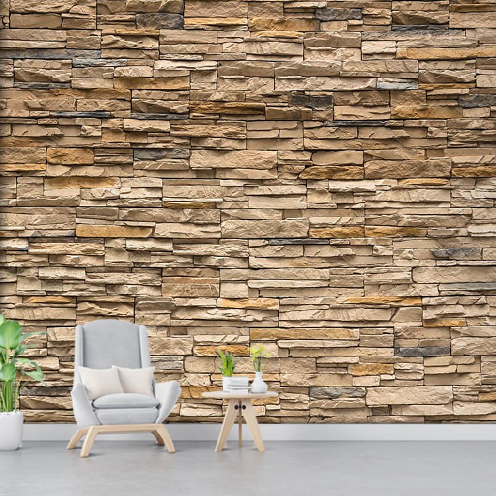 Doğal taş örme 3D duvar kağıdı