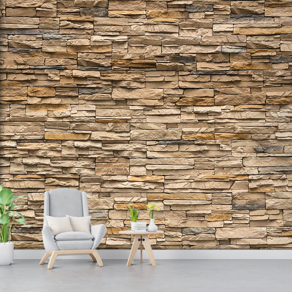 Knitted natural stone wall 3d custom scalable wall mural