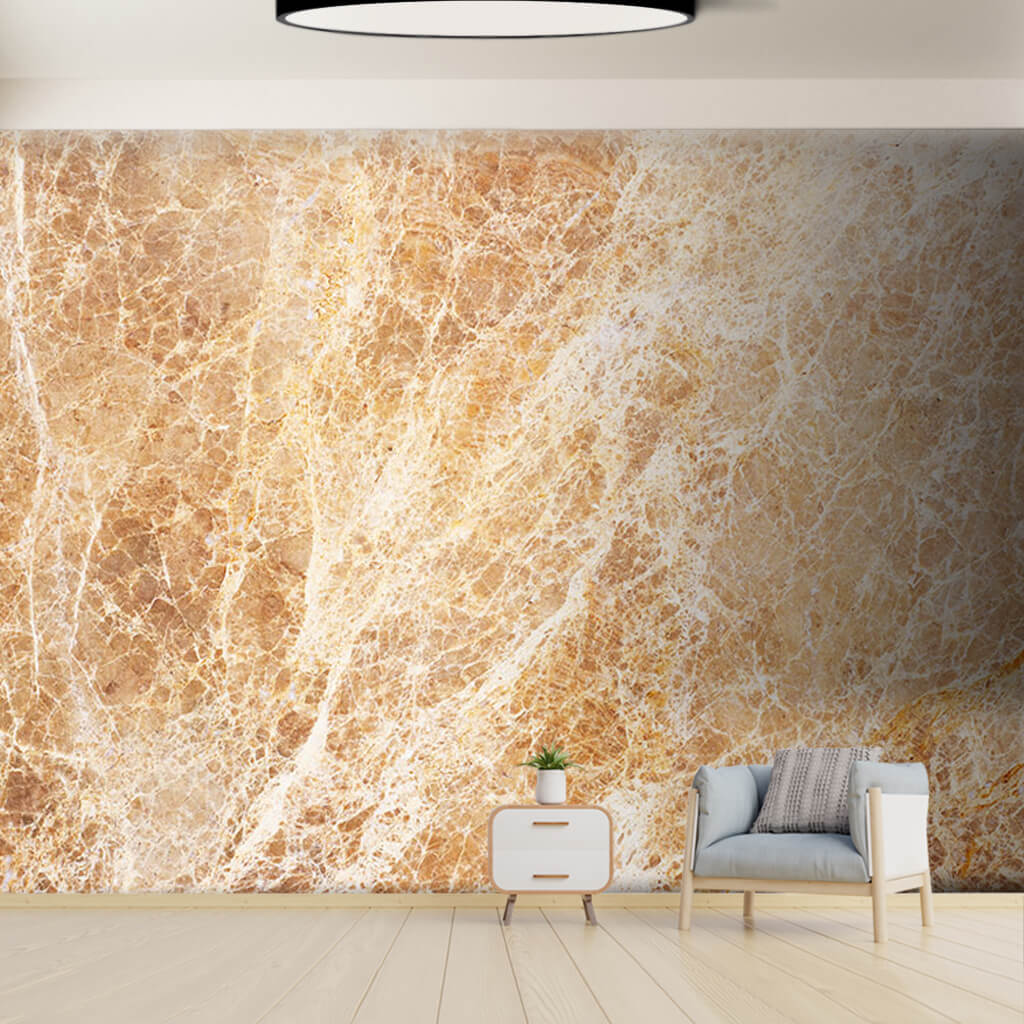White veined brown marble stone custom scalable wall mural
