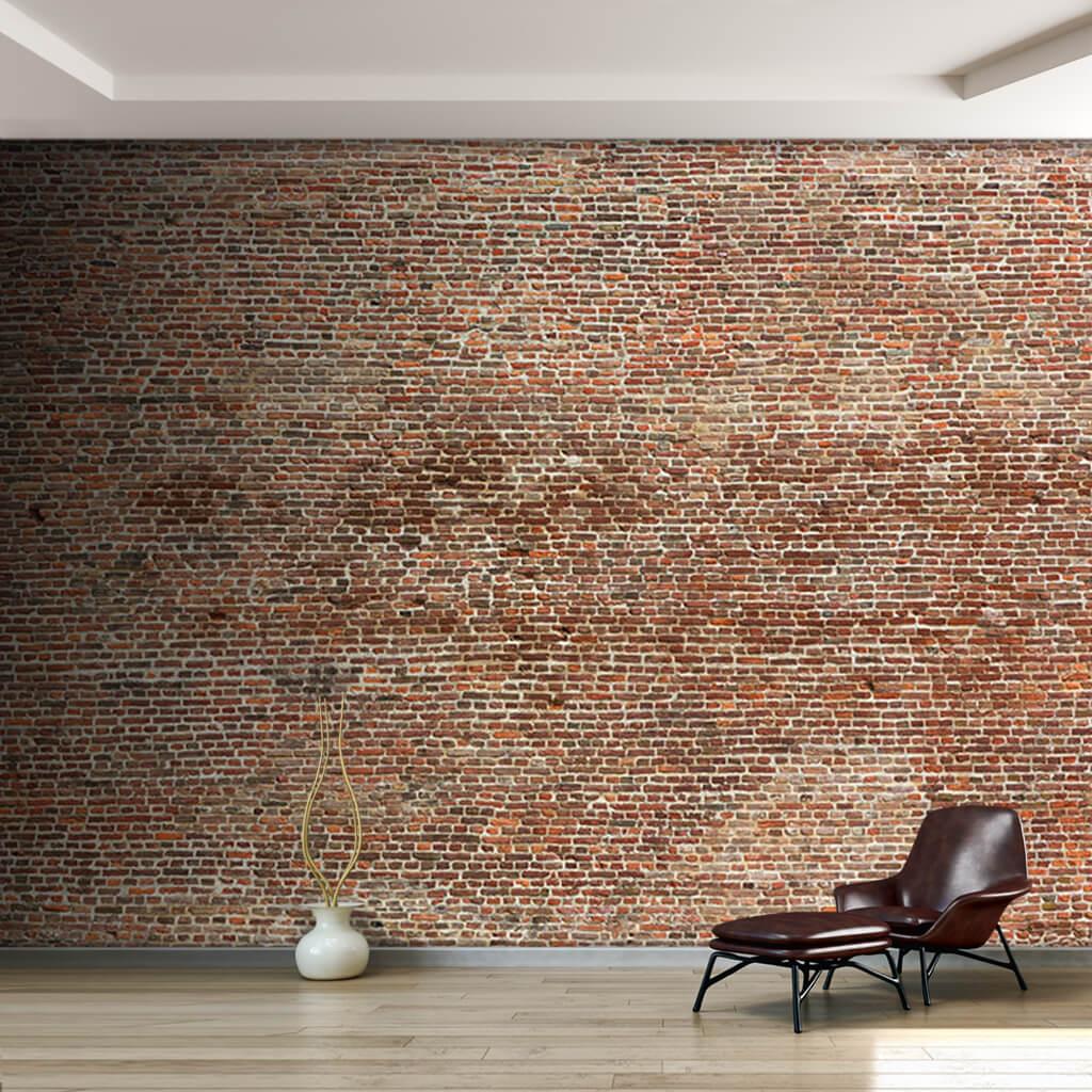 Eski tuğla örme duvar dokusu duvar kağıdı