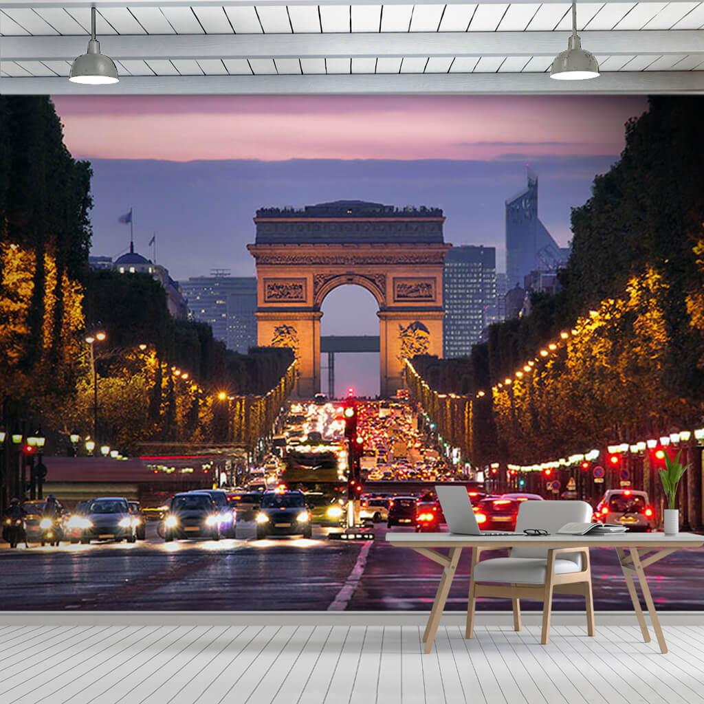 Champs Elysées Arc de Triomphe Paris wall mural