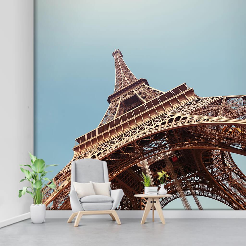 Aşağıdan yukarıya Eyfel Kulesi Paris tavan  duvar kağıdı