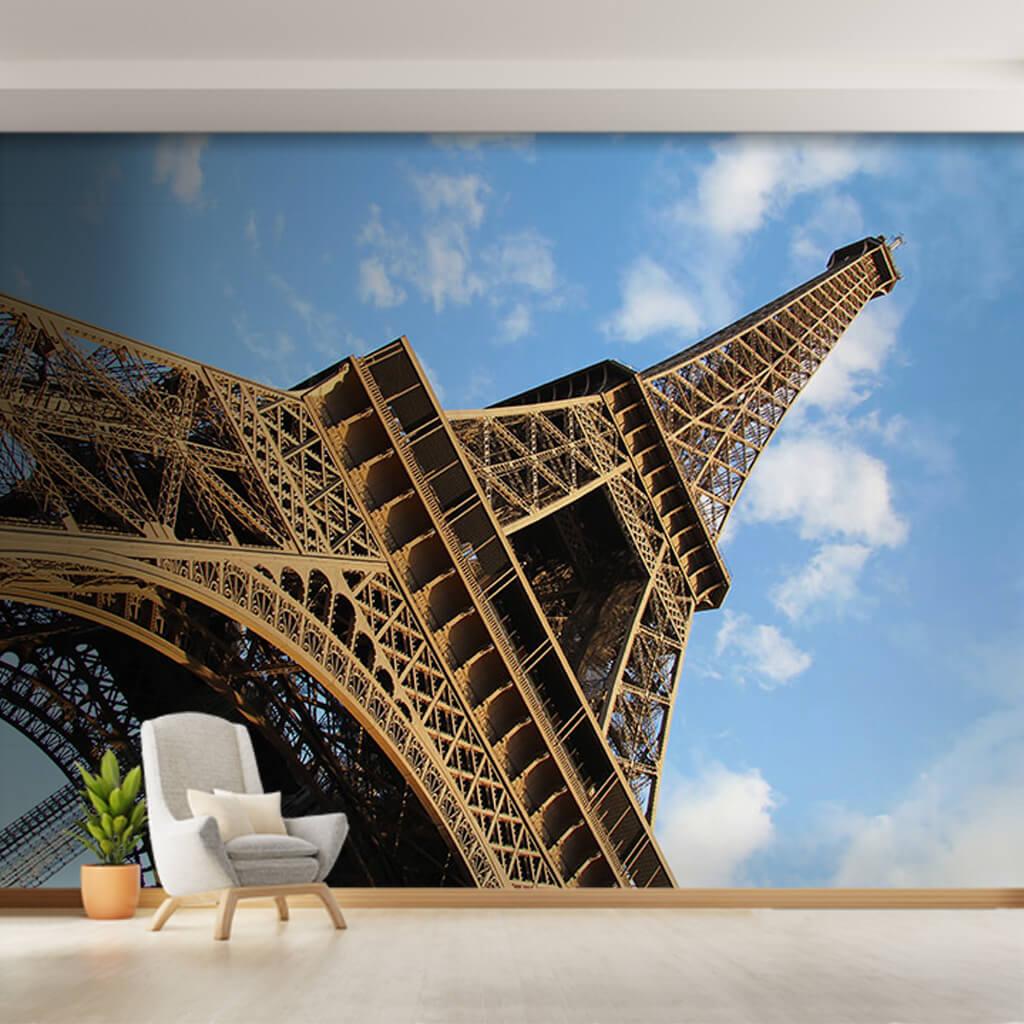 Alttan yukarıya Eyfel Kulesi Paris tavan duvar kağıdı