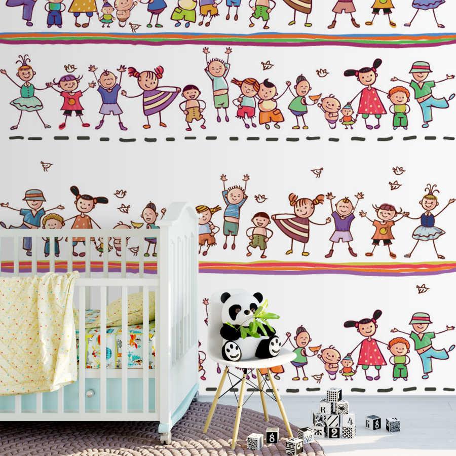 Çocuklar ve bayram kutlaması çocuk odası duvar kağıdı