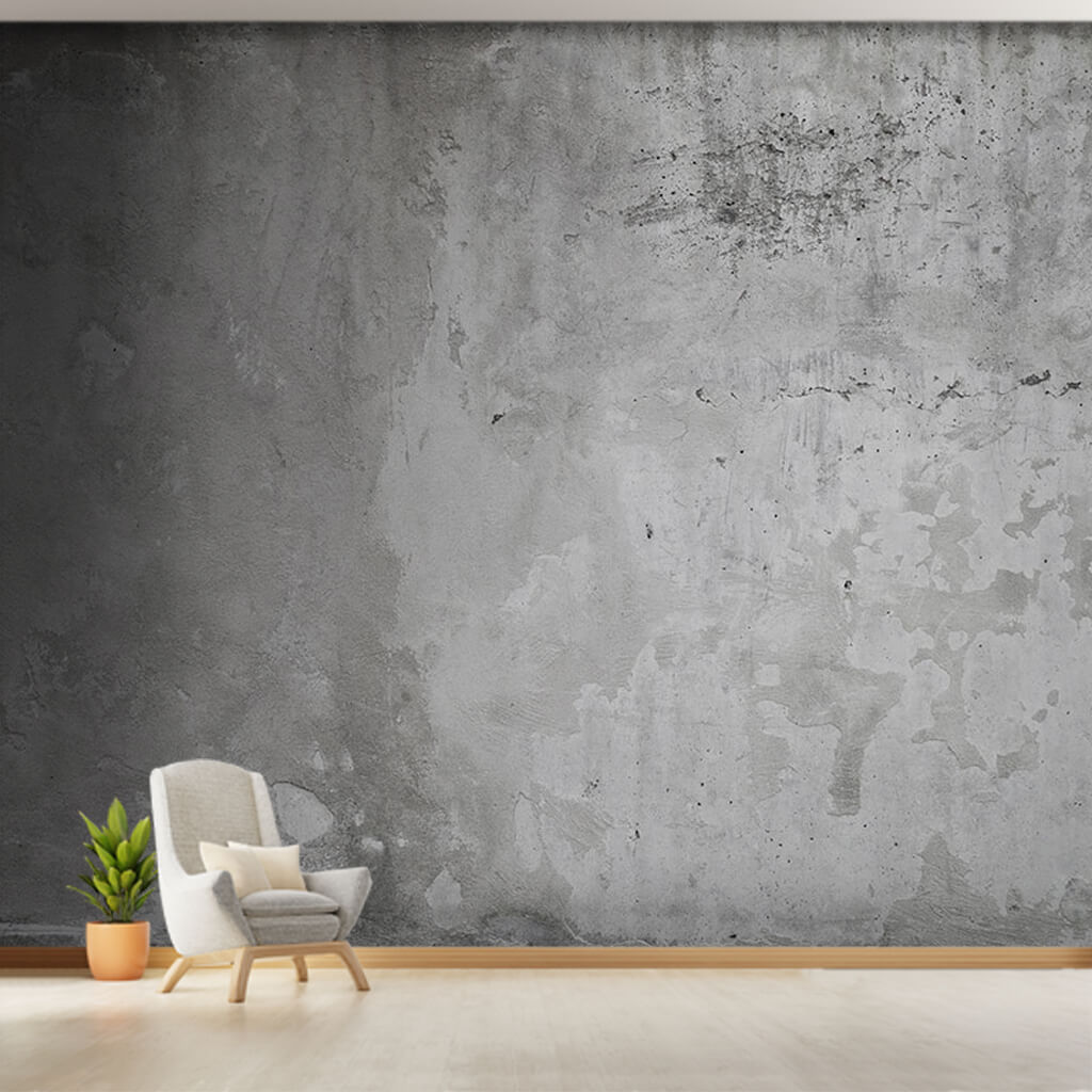 Gray rough plaster concrete pattern texture wall mural