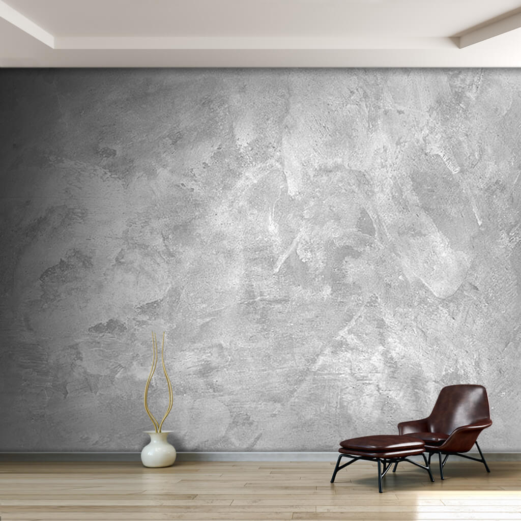 White cement pattern rough plaster concrete wall mural