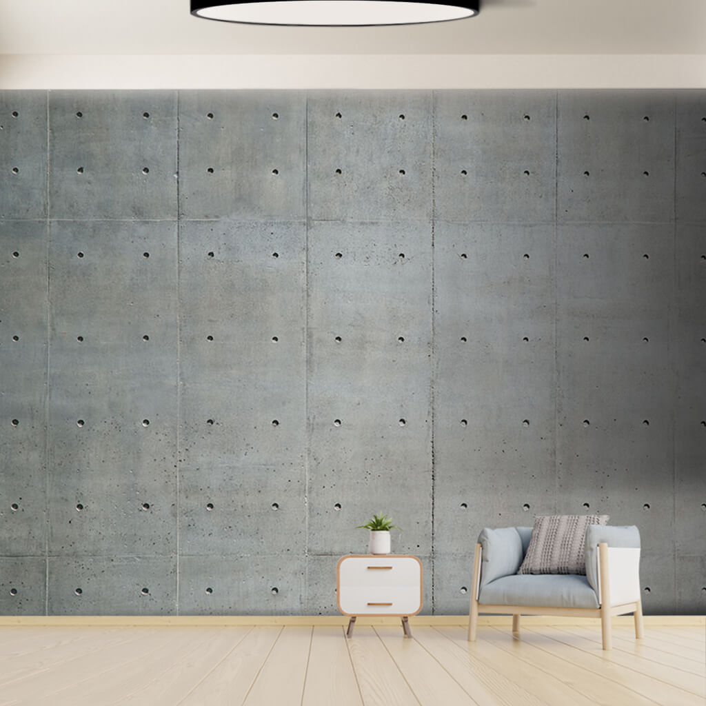 Porous concrete perforated cement industrial wall mural