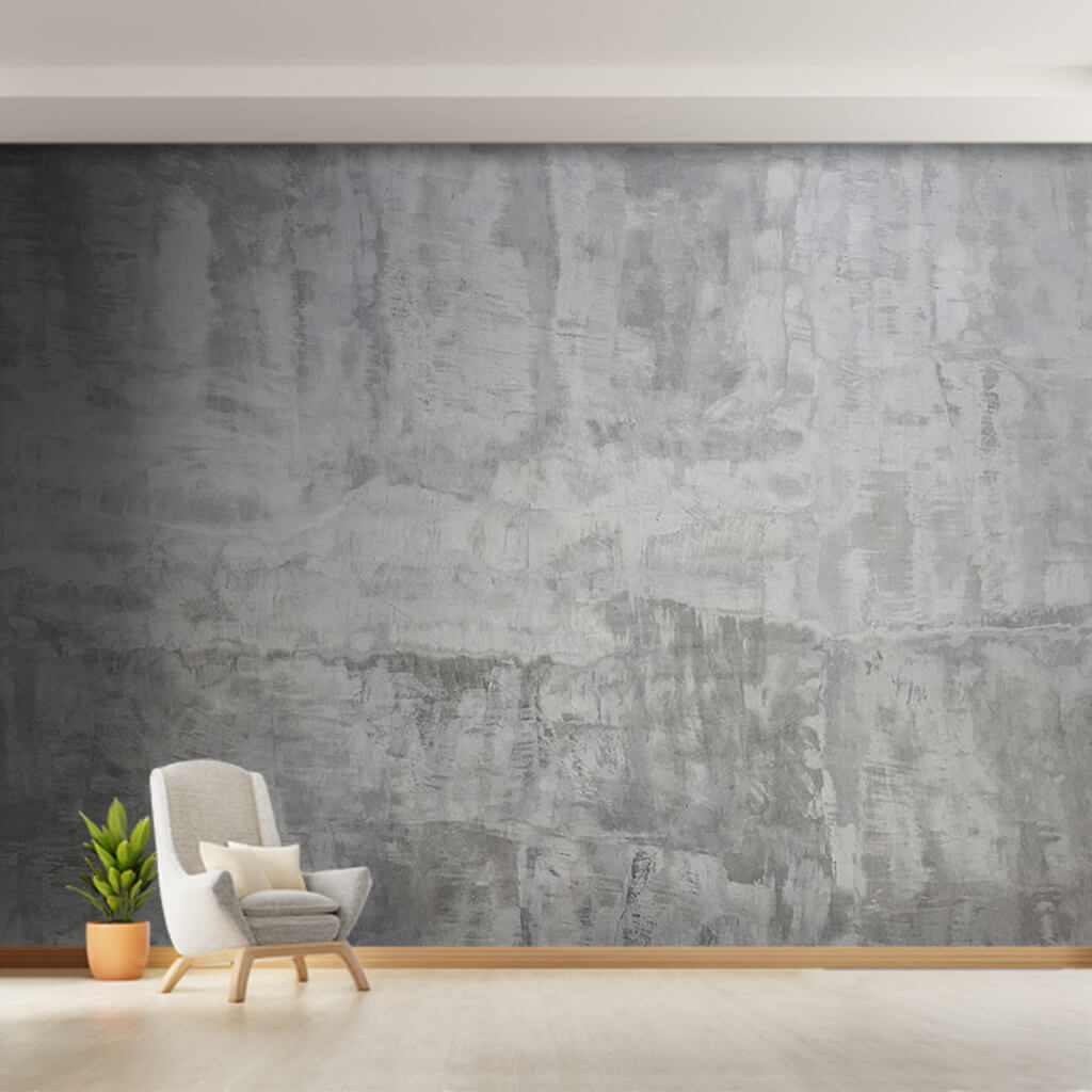 White cement textured concrete scalable custom wall mural