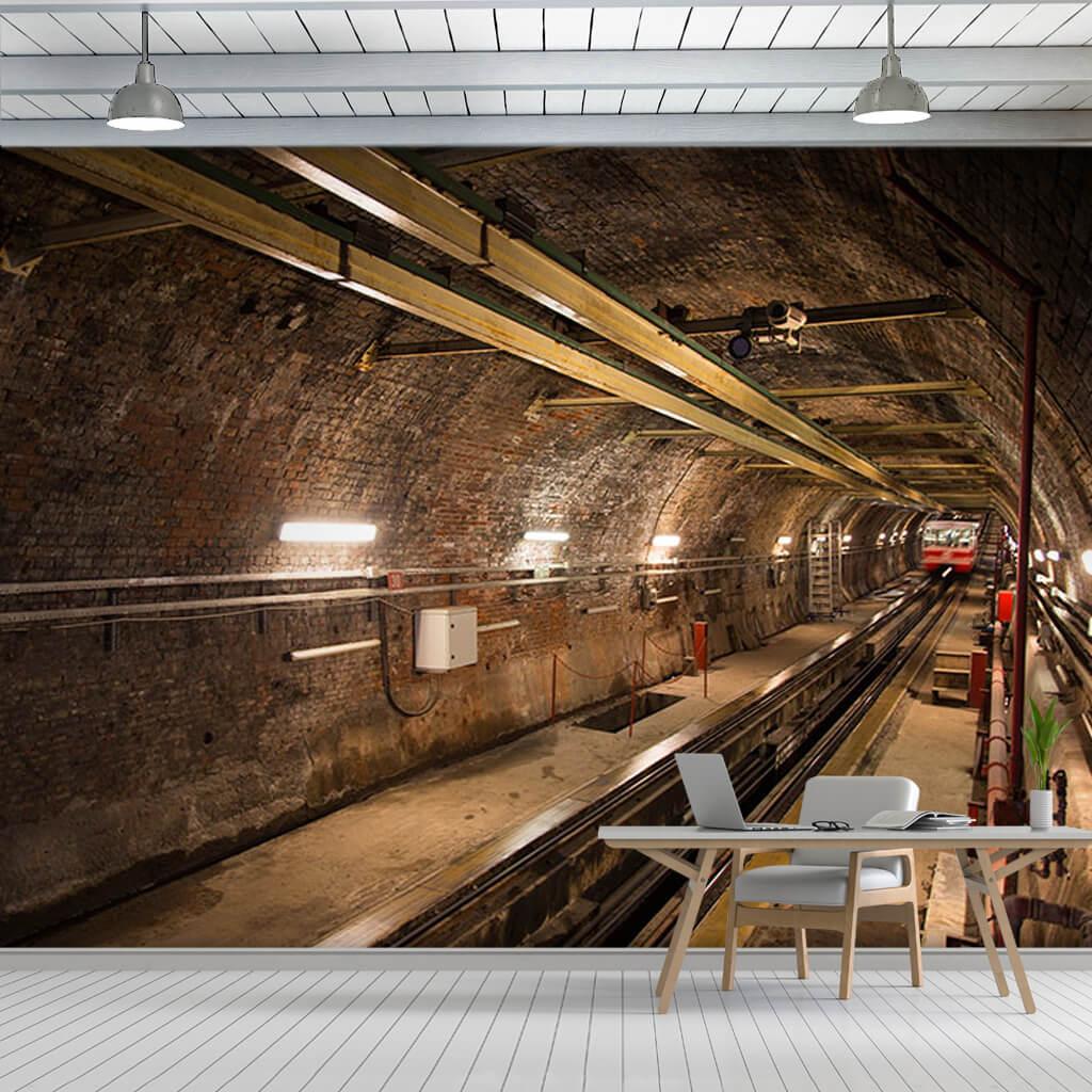 Eski Karaköy tüneli Finiküler İstanbul 3D duvar kağıdı.