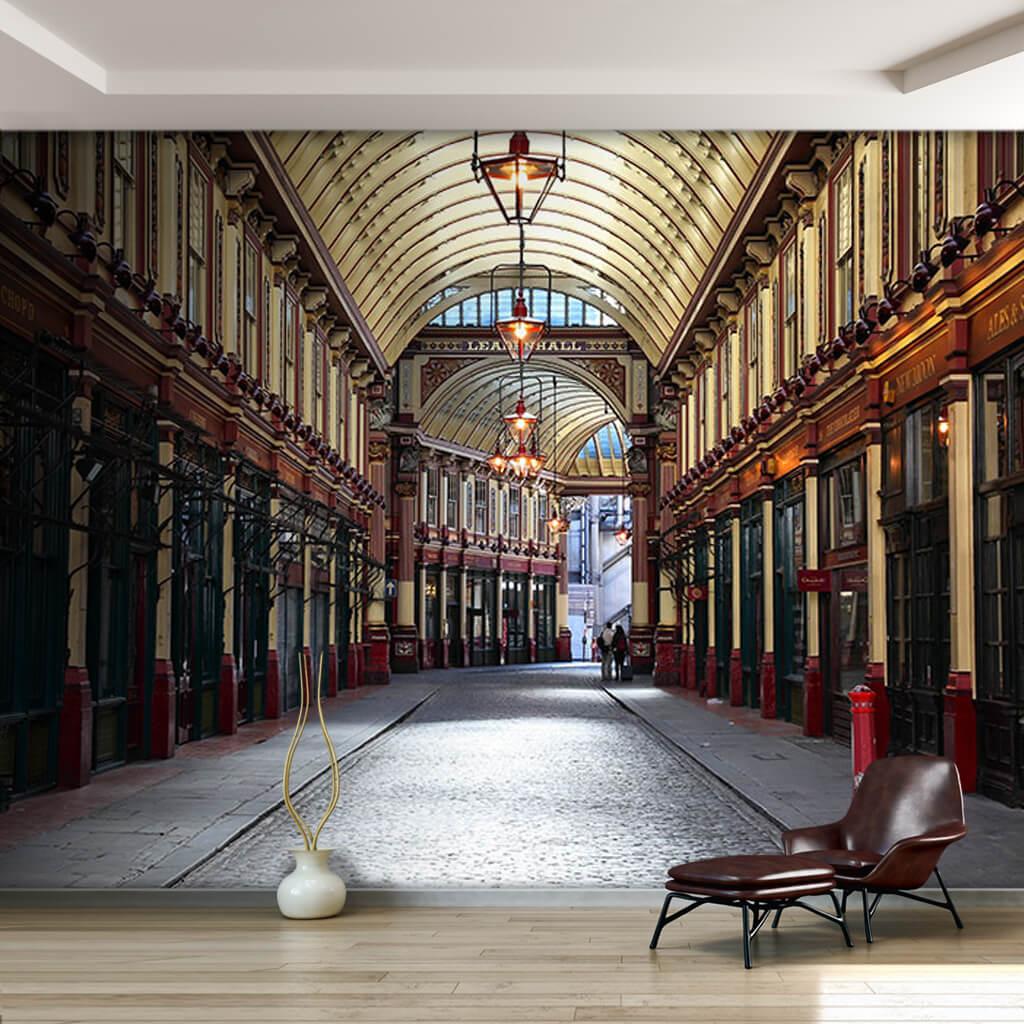 Kapalı çarşı Leadenhall Market Londra 3 boyutlu duvar kağıdı
