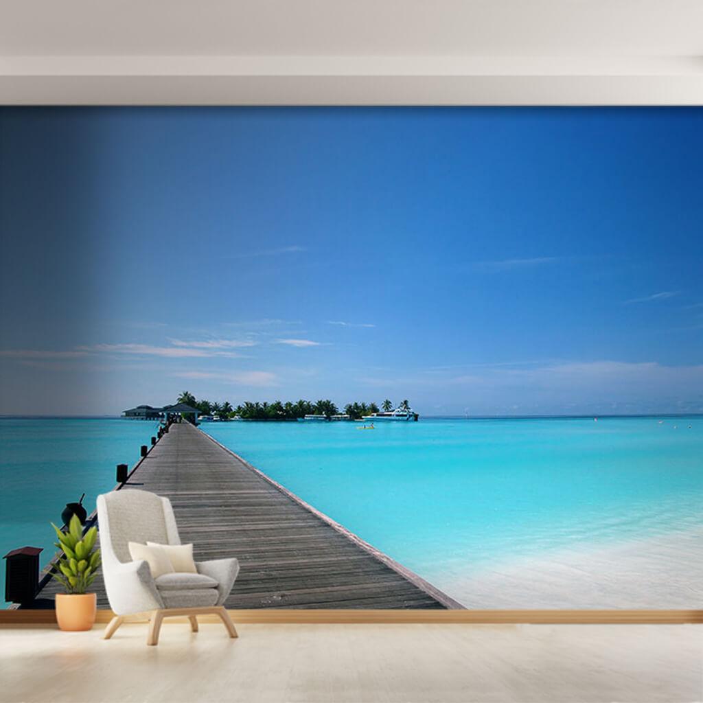 Barbados Maldivler Seyşeller Tropik ada oteli duvar kağıdı