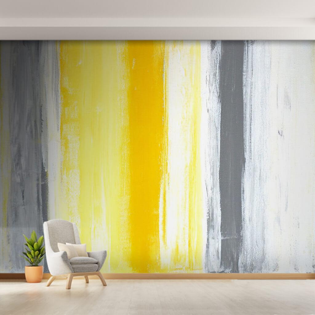 Beyaz gri ve sarı pastel renk tuvali modern duvar kağıdı