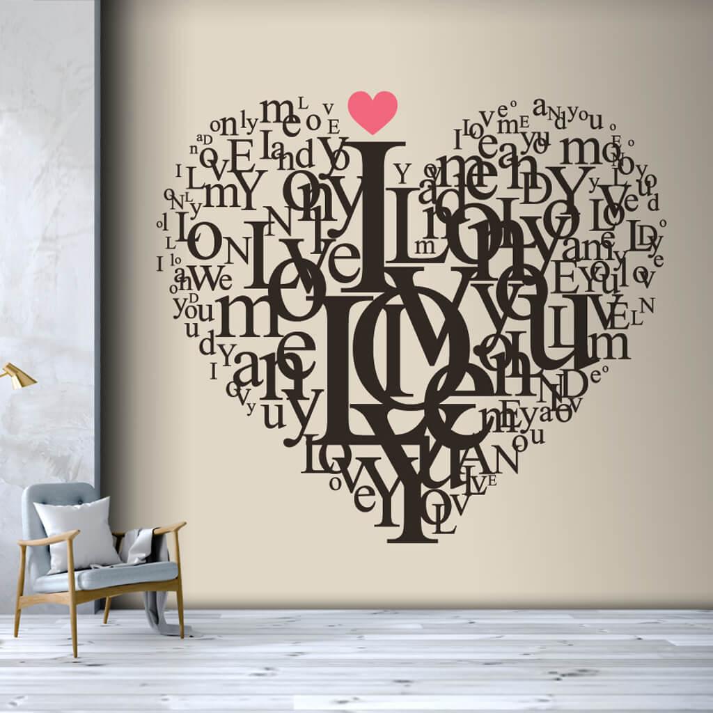 Harflerle kalp çizimi