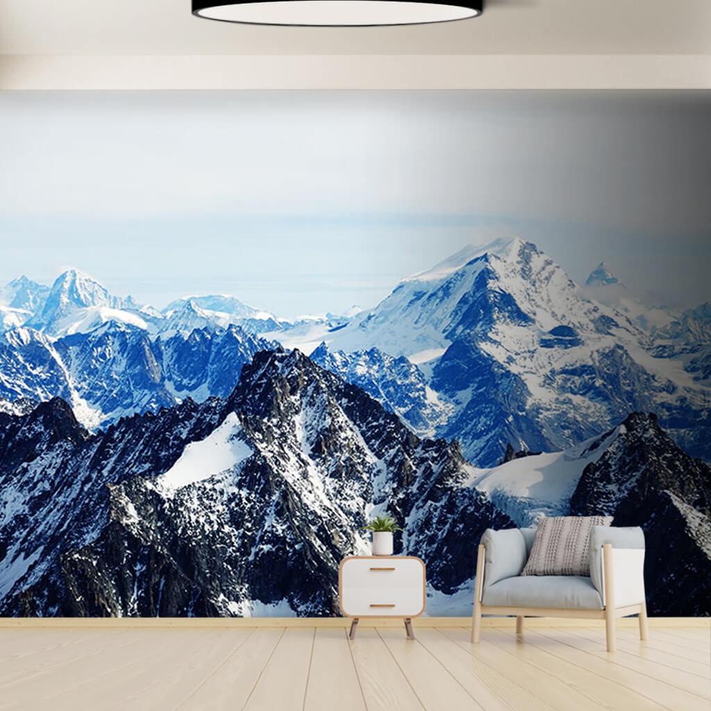 Aiguille du midi dağı fransa kış görsel duvar kağıdı