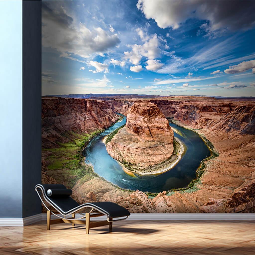 At nalı kıvrımı Büyük Kanyon Arizona ABD duvar kağıdı