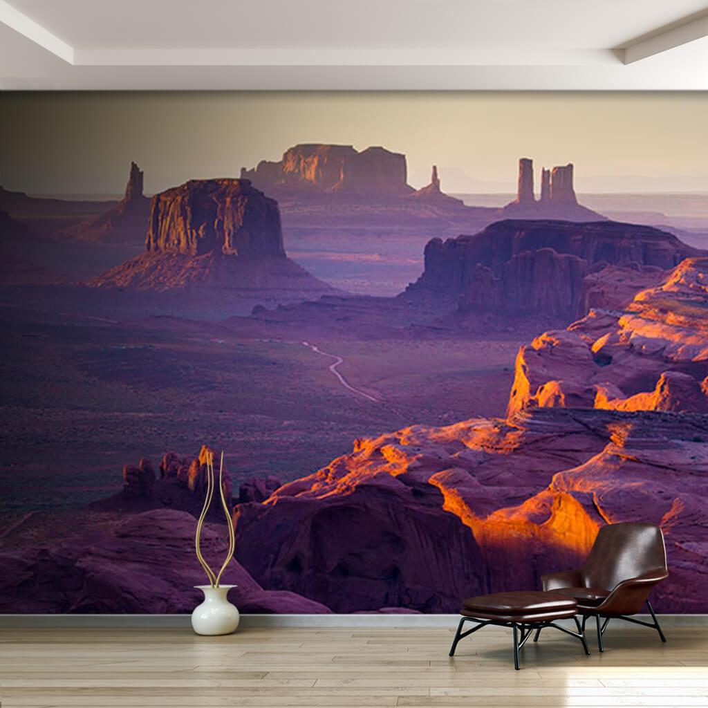 Anıtlar vadisi Amerika vahşi batı görsel 3D duvar kağıdı