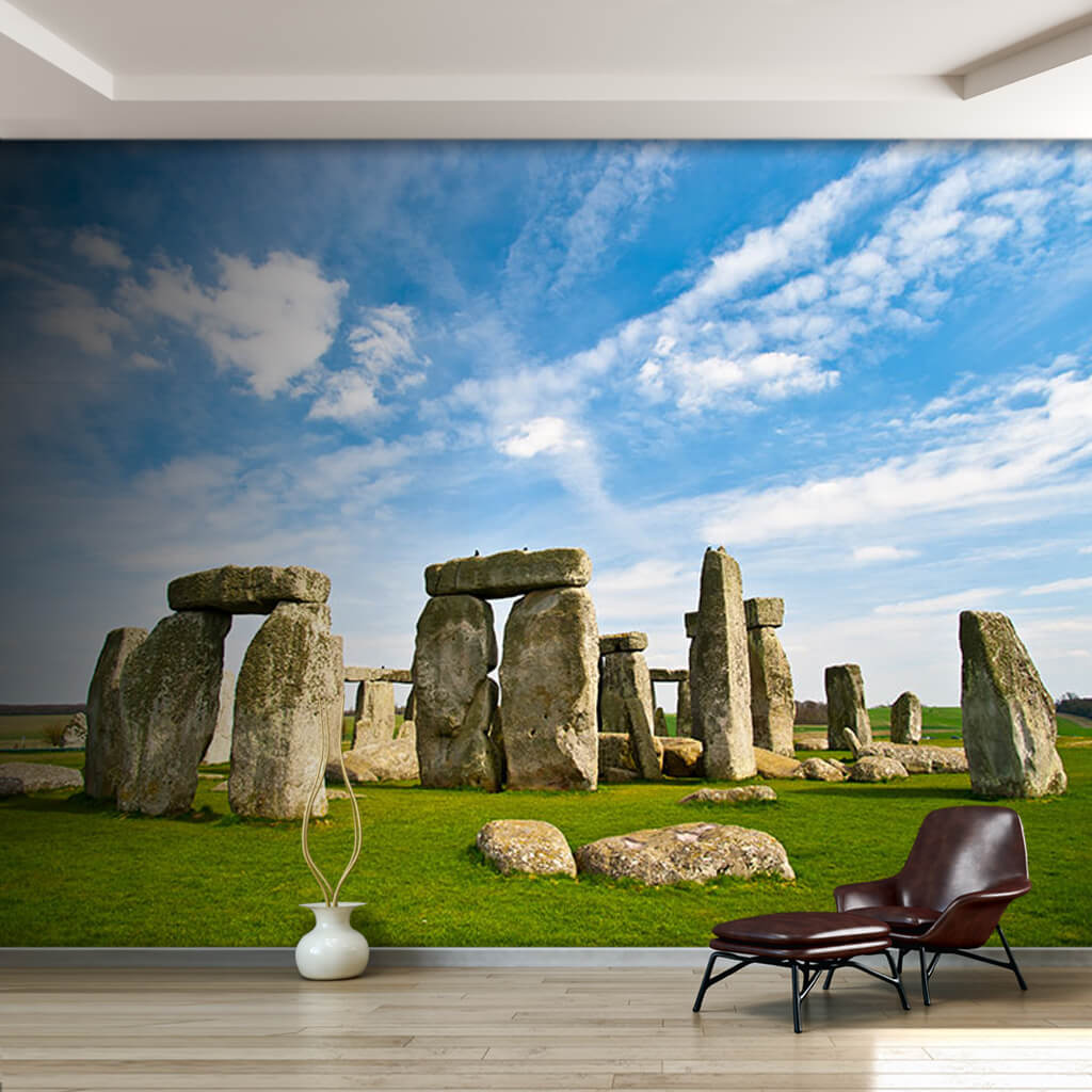Ancient History Stonehenge England countryside wall mural