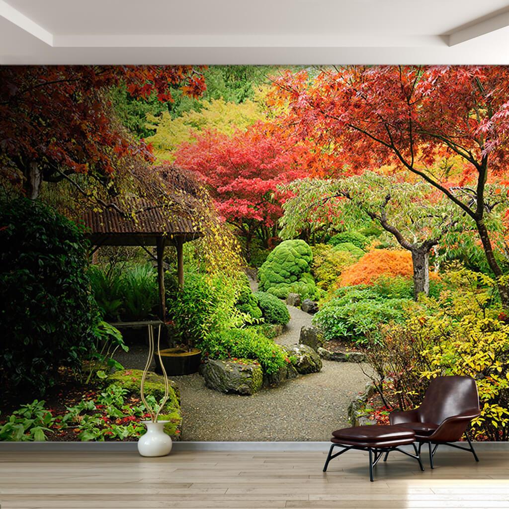 Autumn Botanical Garden Vancouver Canada custom wall mural