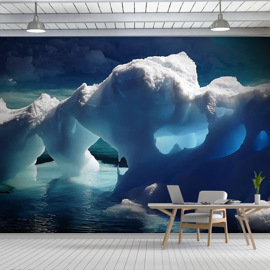Arctic ocean blue glaciers nature landscape wall mural