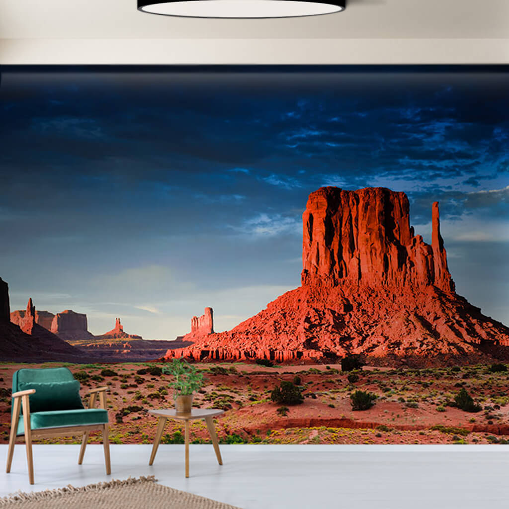 Red Rocks Monument Valley In Sunset Arizona Wall Mural