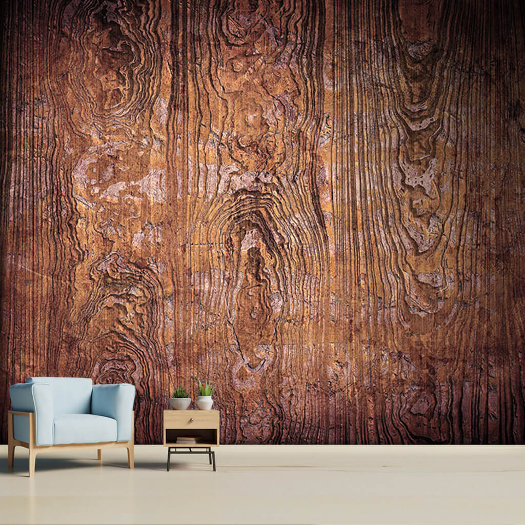 Dark brown old wooden vertical tile plank custom wall mural