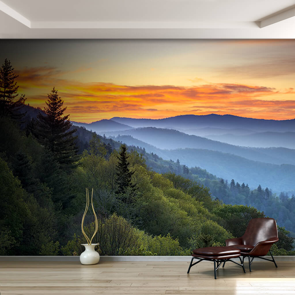 Büyük Dumanlı Dağlar Ulusal Park Amerika duvar kağıdı