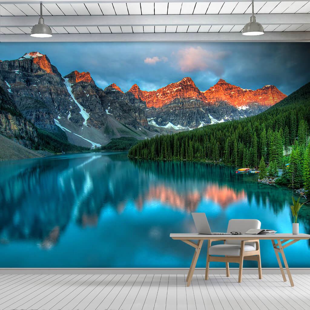Banff Milli Parkı ve Moraine Gölü 3D duvar kağıdı