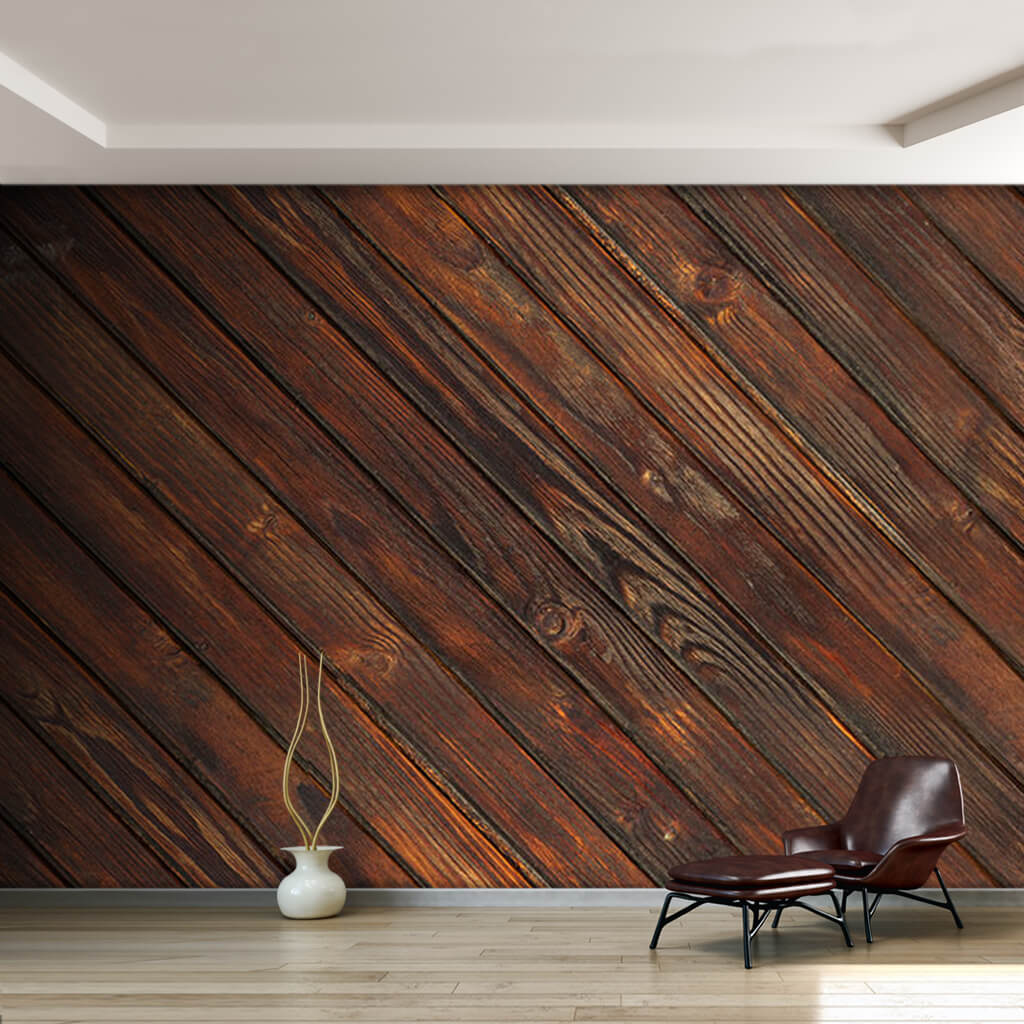 Dark wood tumbled cross overlay custom scalable wall mural