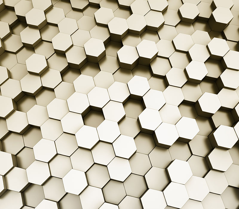 Metal Hexagon Bee Hive Pattern 3d Scalable Custom Wall Mural