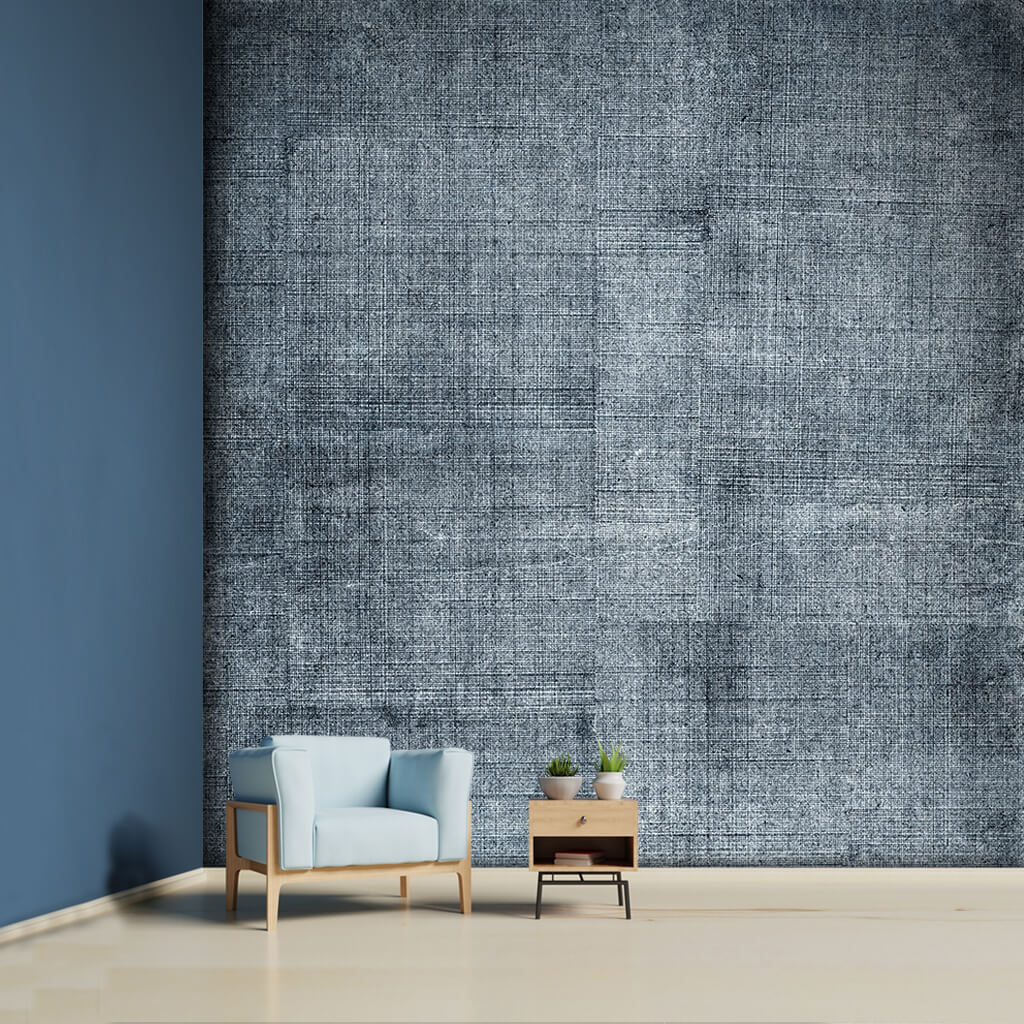 Blue denim fabric textured pattern scalable custom wall mural
