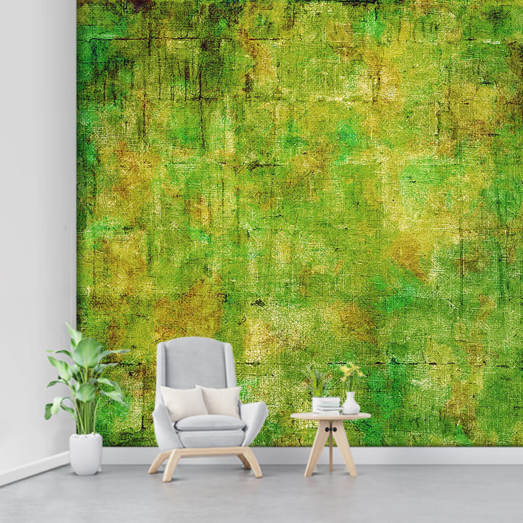Abstract background with tumbled green colors wall mural