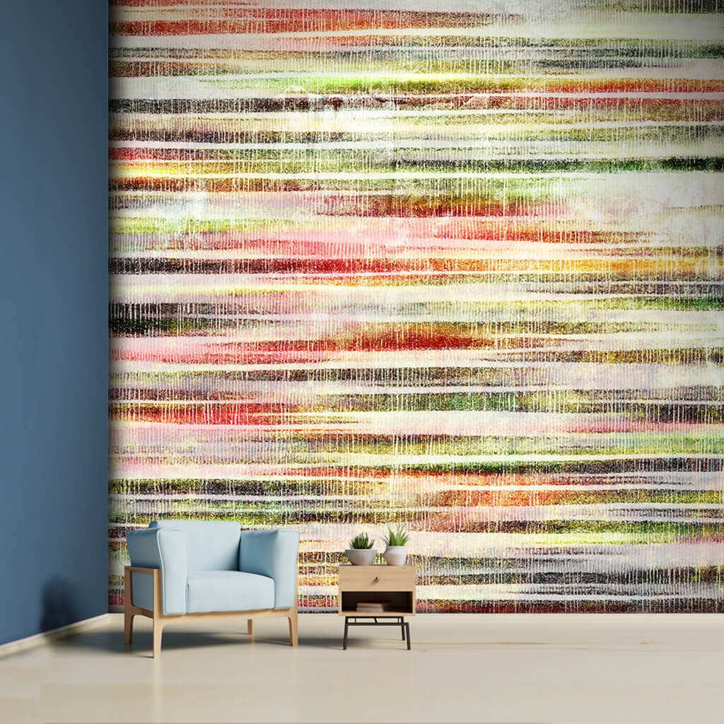 Wicker textured landscape with  abstract colors wall mural