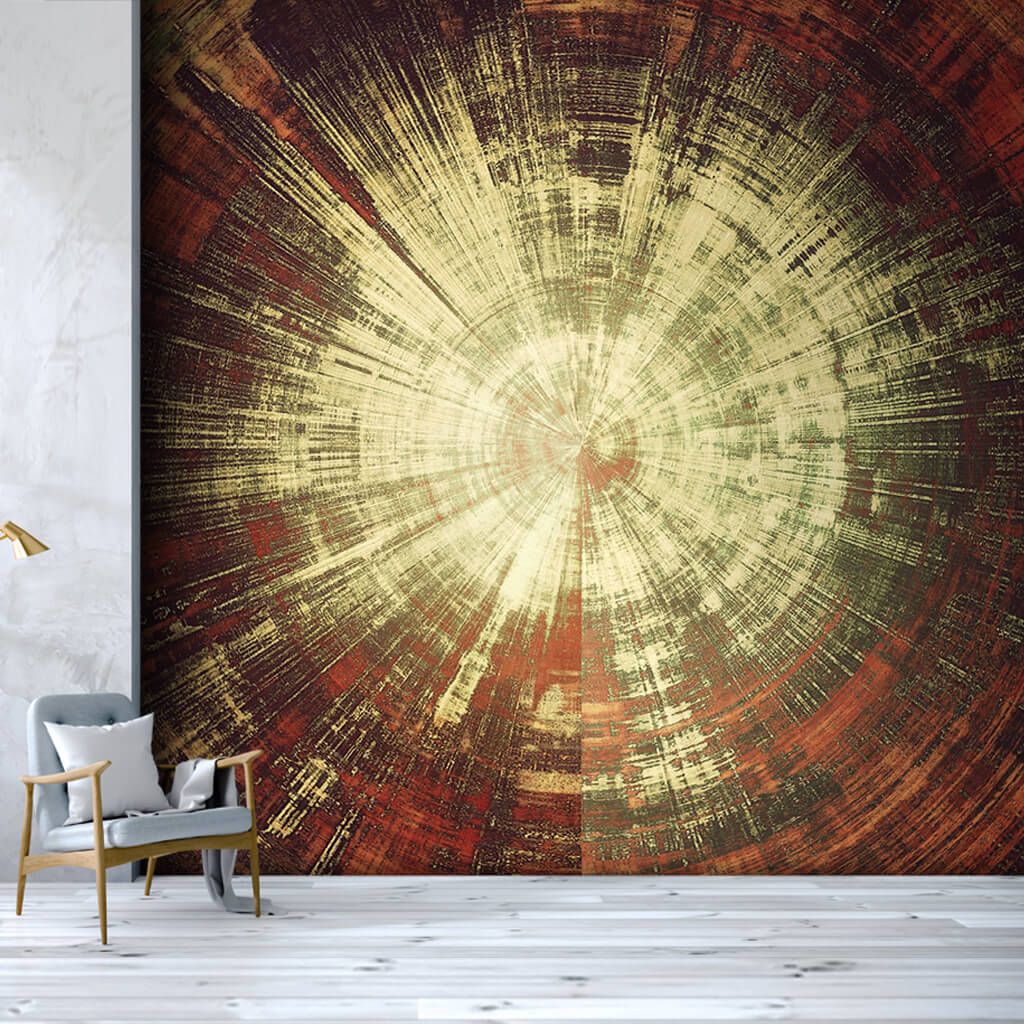 Abstract billet timber cross section oil painting wall mural