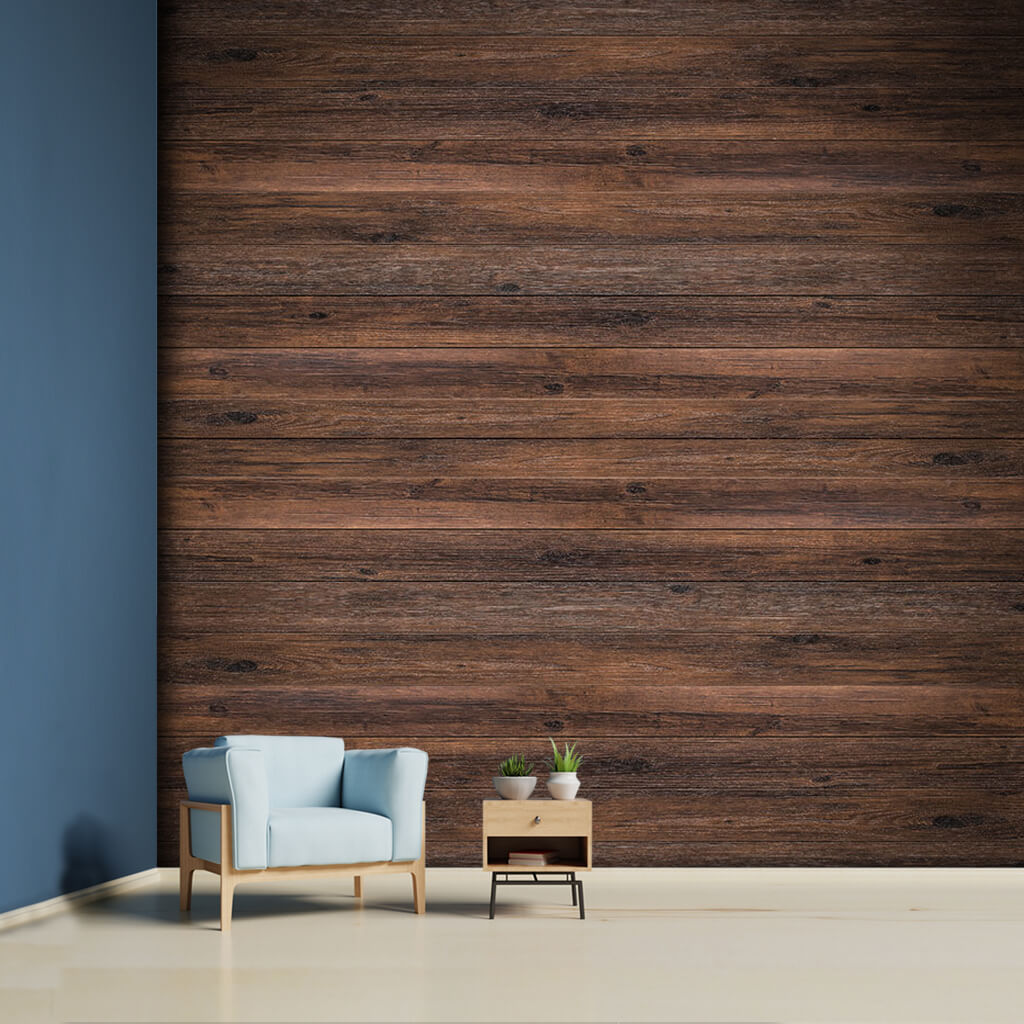 Chestnut tree horizontal cut laying wood custom wall mural