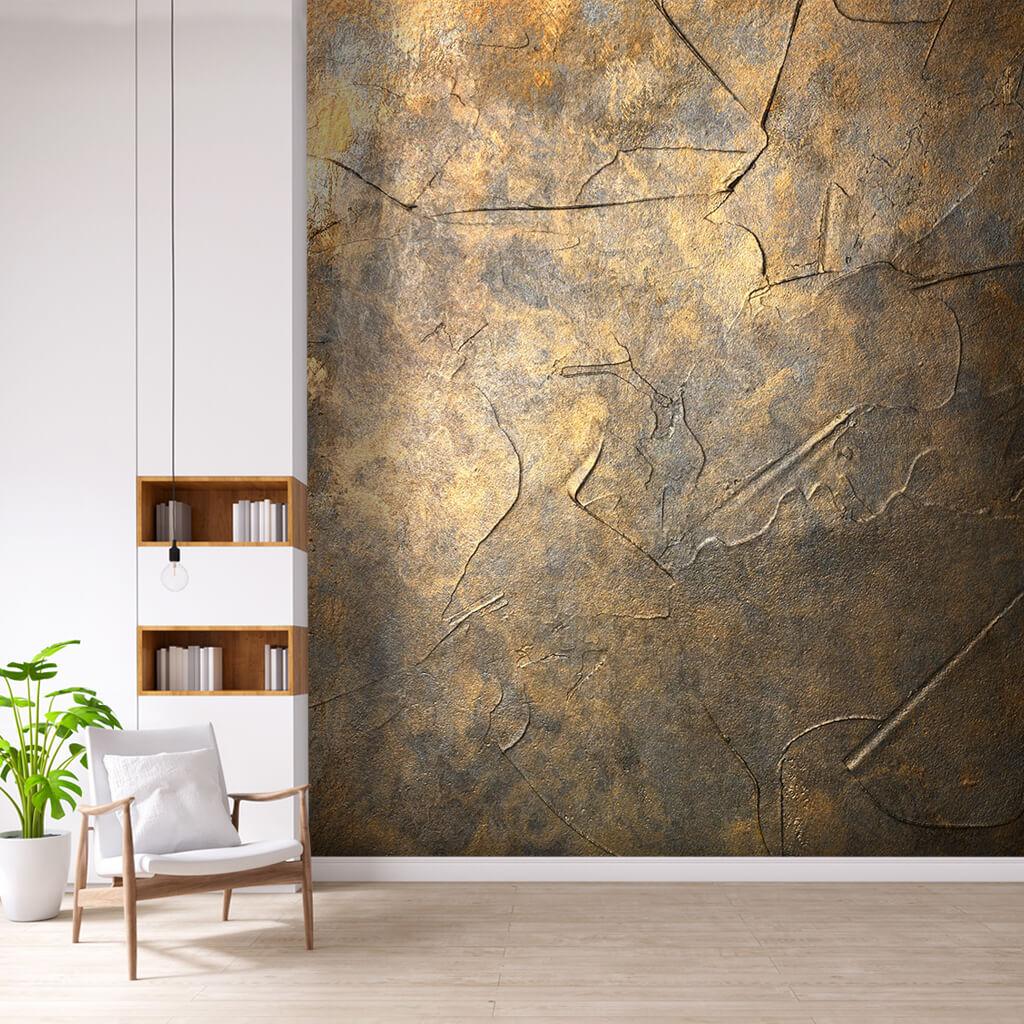 Antik metal dokulu duvar kağıdı