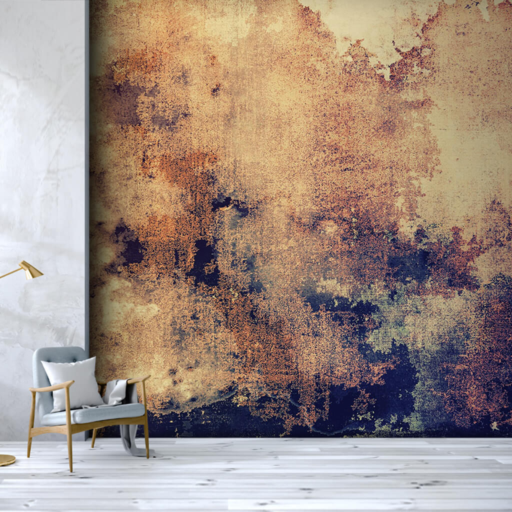 Close up of weathered stained background grunge wall mural